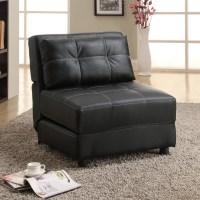 Coaster Company Black Accent Lounge Chair Futon Sofa Bed ...