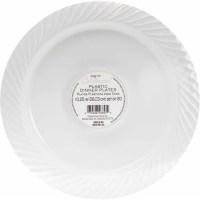 """10.25"""" Plastic Dinner Plates, White, Set of 20 - Walmart.com"""