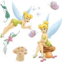 Disney Tinkerbell Very Fairy 22pc Wall Sticker Set ...