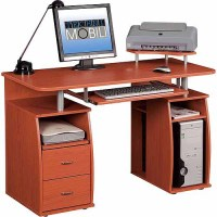 Complete Office Desk With Pullout Shelf, - Walmart.com