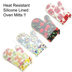 Kitchen Mittens Design Ideas Images Magg Heat Resistant Silicone Lined Grip Oven Mitts For Hot Surface Cooking Baking Gloves Potholder