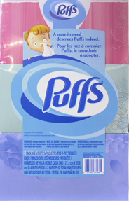 Puffs Basic Facial Tissues 3 Family Boxes 180 Tissues