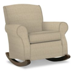 Klaussner Rocking Chair Leather Chairs With Ottomans Nursery Classics By Marlowe Khaki Walmart Com