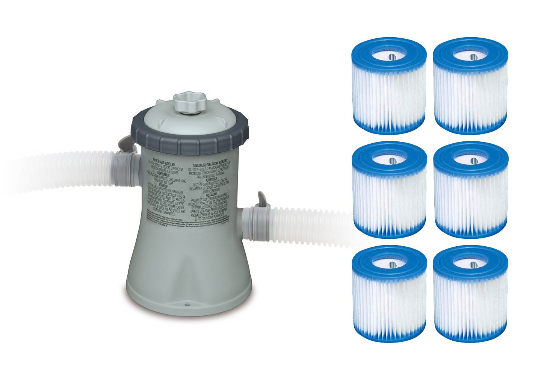 Intex 330 Gph Easy Set Swimming Pool Filter Pump With Six