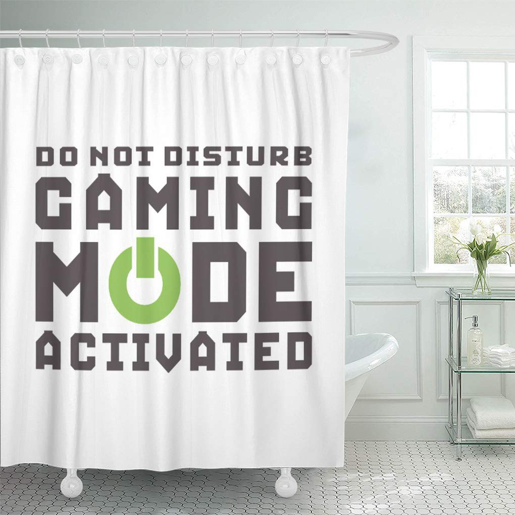 suttom humor funny gamer for video games geek gaming black shower curtain 60x72 inch