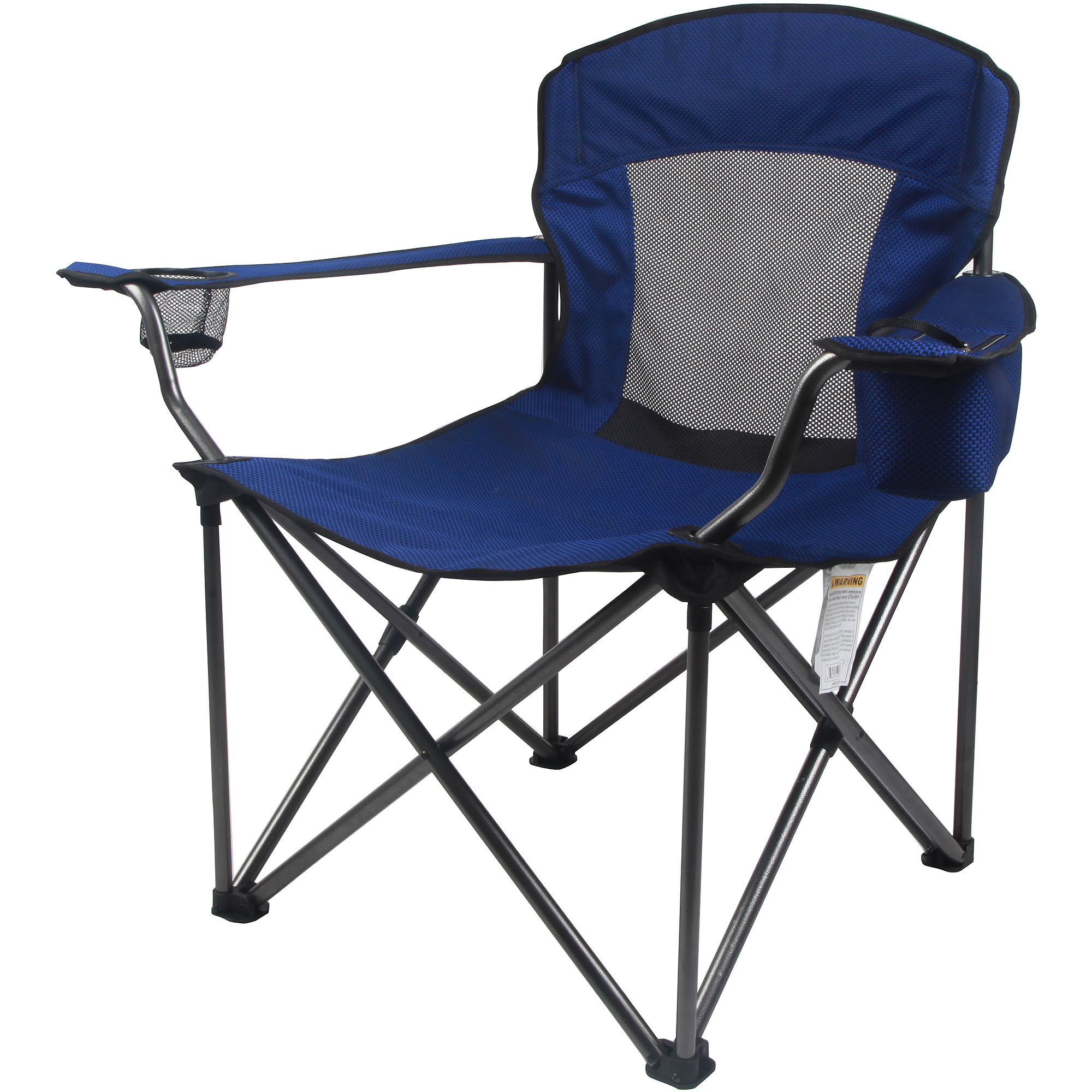 Folding Arm Chair Ozark Trail Deluxe Folding Camping Arm Chair Walmart