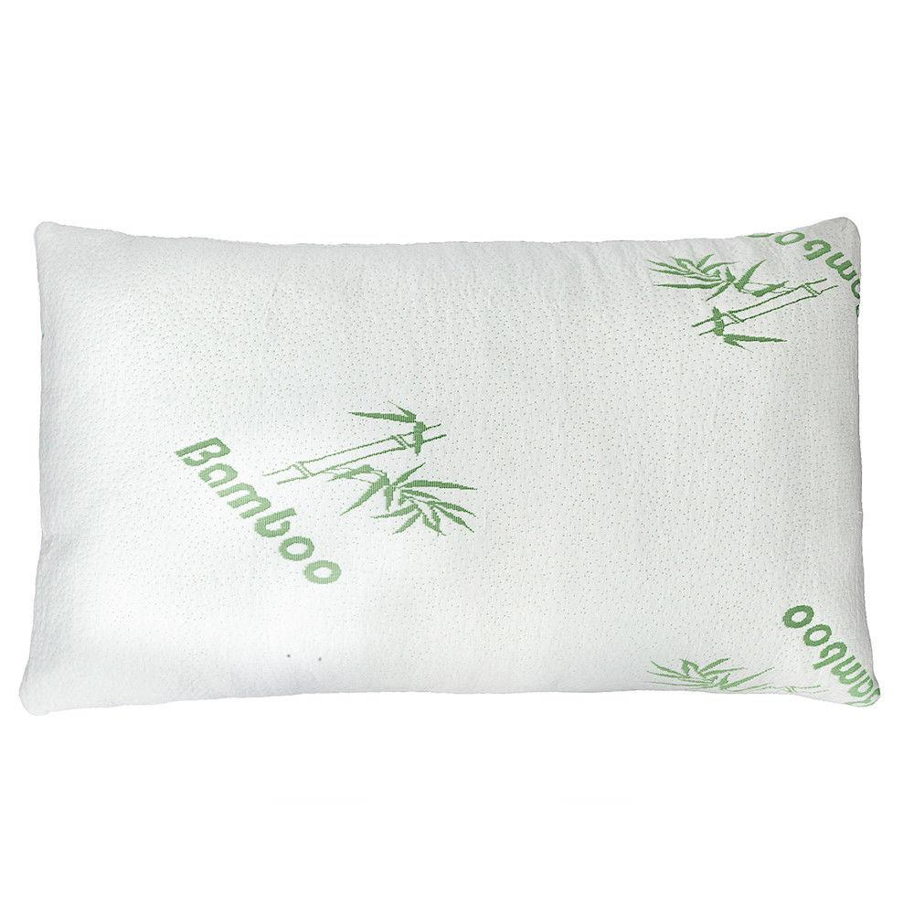 clara clark bamboo foam pillow premium shredded hypoallergenic memory foam bed pillow with washable removable ultra cool bamboo derived rayon cover