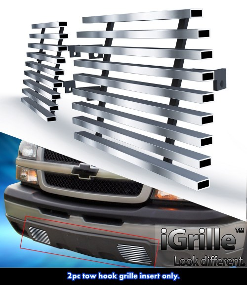 small resolution of for 2003 2006 chevy silverado 1500 2500 stainless steel tow hook billet grille walmart com