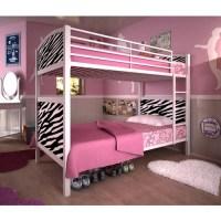 Dorel White Metal Twin Bunk Bed, Zebra - Walmart.com