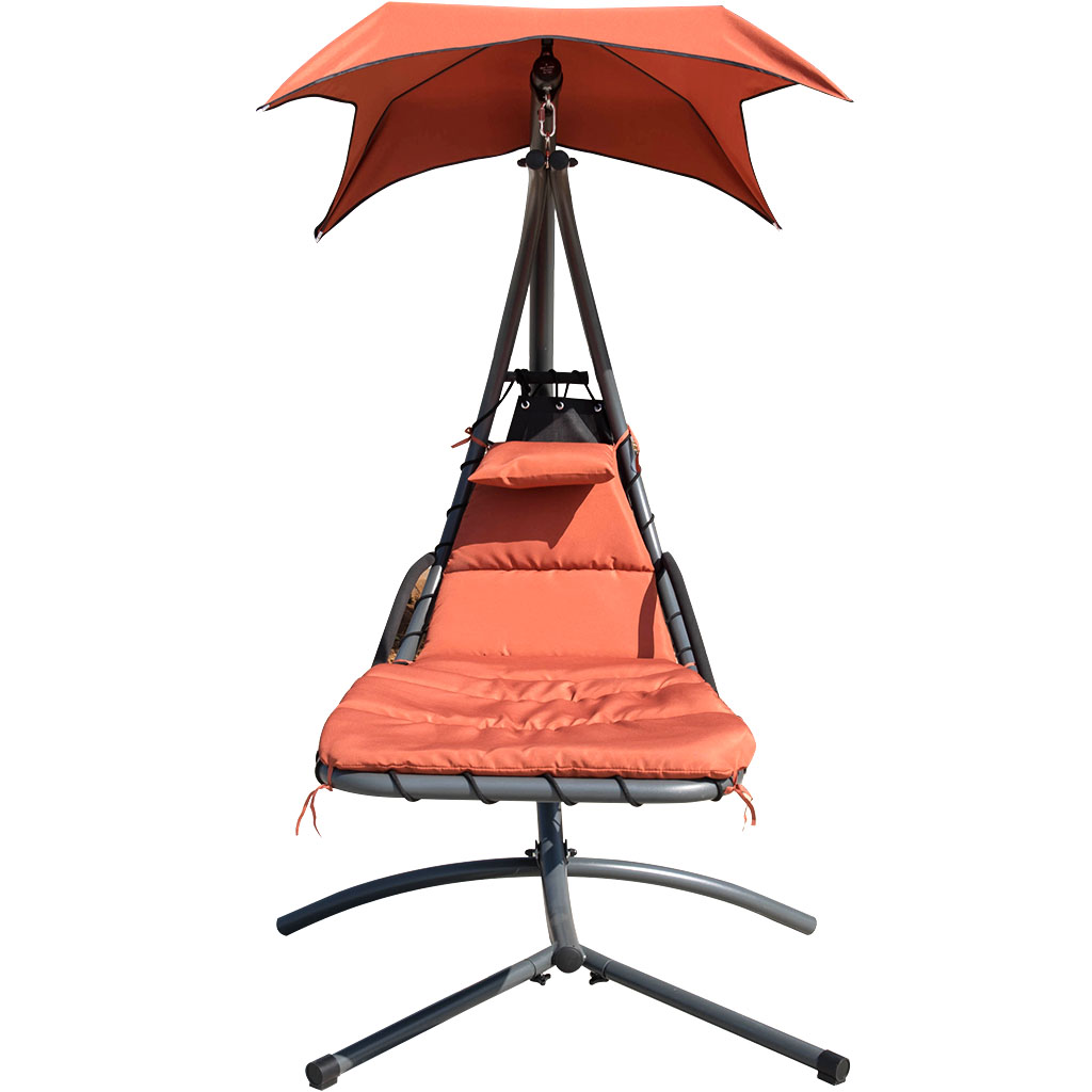 hanging hammock lounge chair executive cover finether chaise outdoor indoor swing with arc stand canopy and
