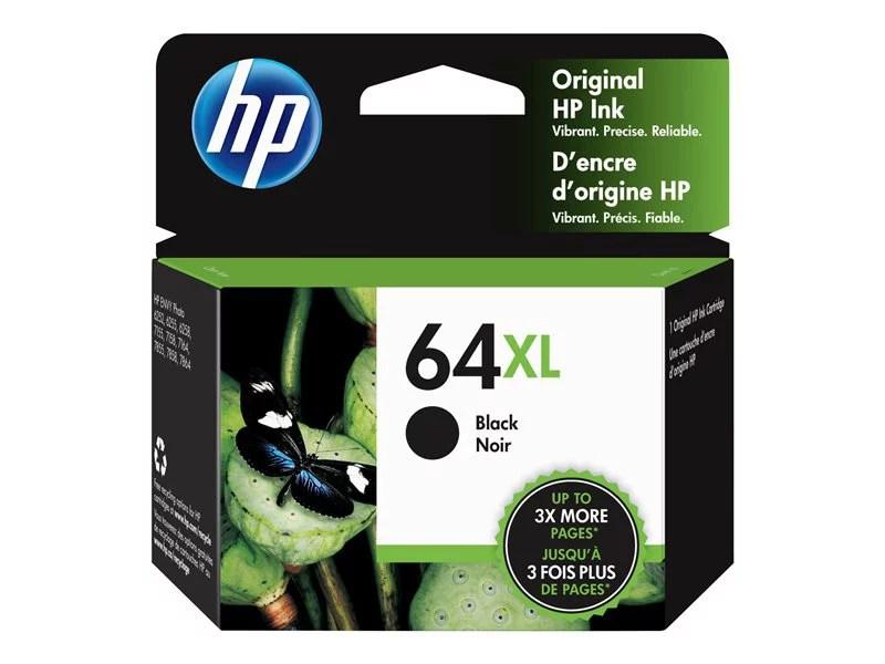 HP 64XL Black Original Ink Cartridge (N9J92AN) - Walmart.com