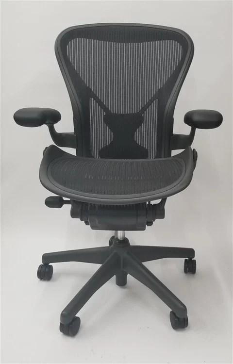 herman miller aeron chair size b reviews with twin sleeper or c basic model posturefit executive office walmart com