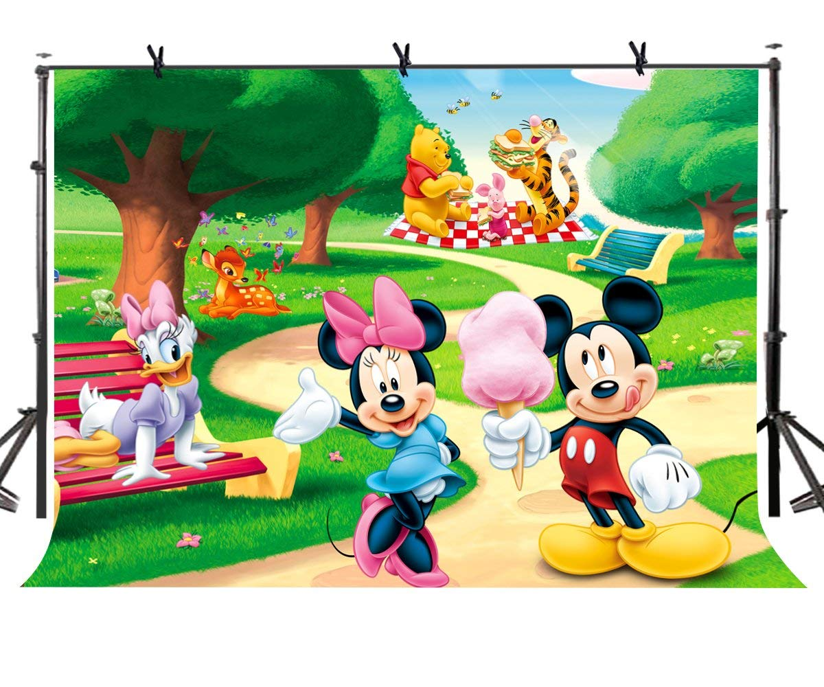abphoto polyester 7x5ft mickey
