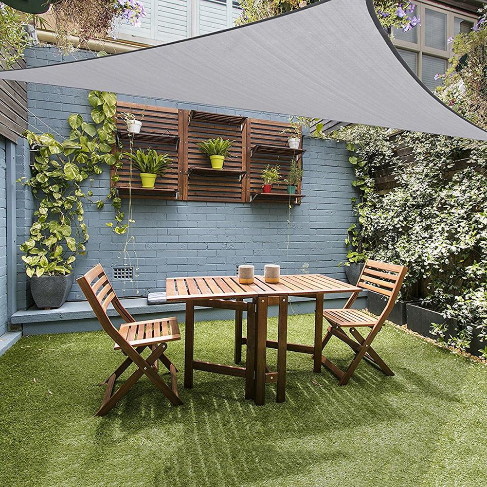 waterproof triangle awning shade sail sun outdoor sun shelter shade sail garden patio pool camping picnic tent walmart com