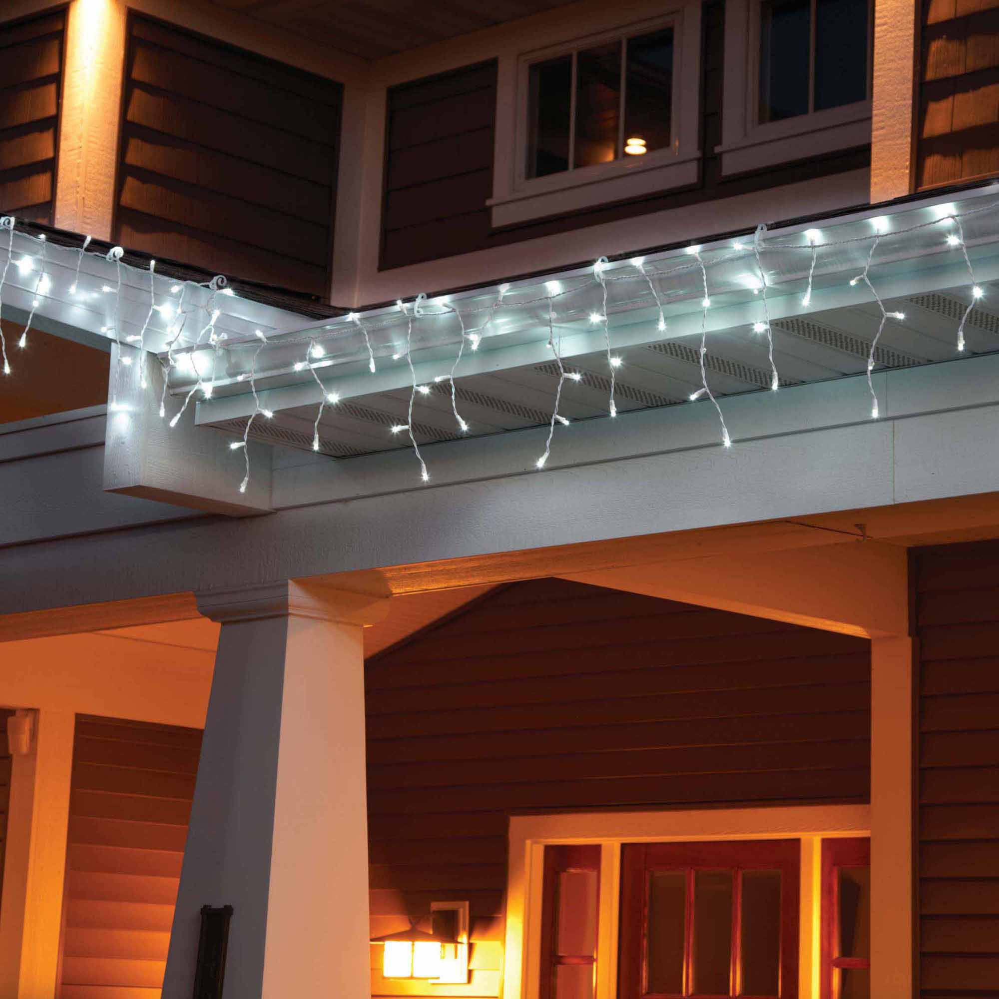 Holiday Time LED Lite Lock Christmas Icicle Lights Cool