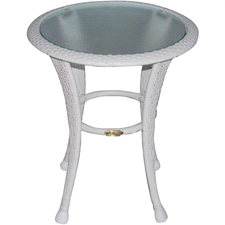 better homes and gardens azalea ridge outdoor side table white walmart com