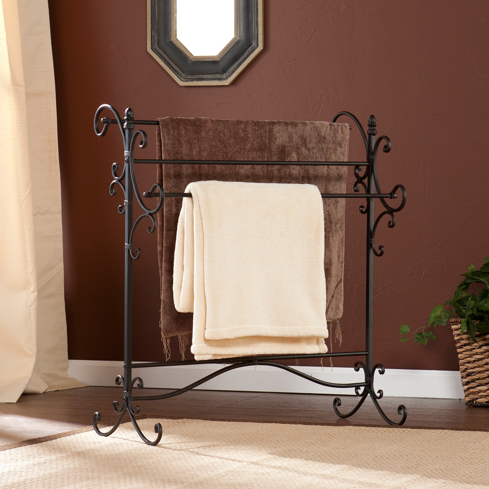 living room blanket holder small ideas apartment therapy southern enterprises martinique rack walmart com