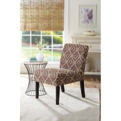 Brown Accent Chairs Chair Covers Ebay Canada Better Homes And Gardens Print Walmart Com