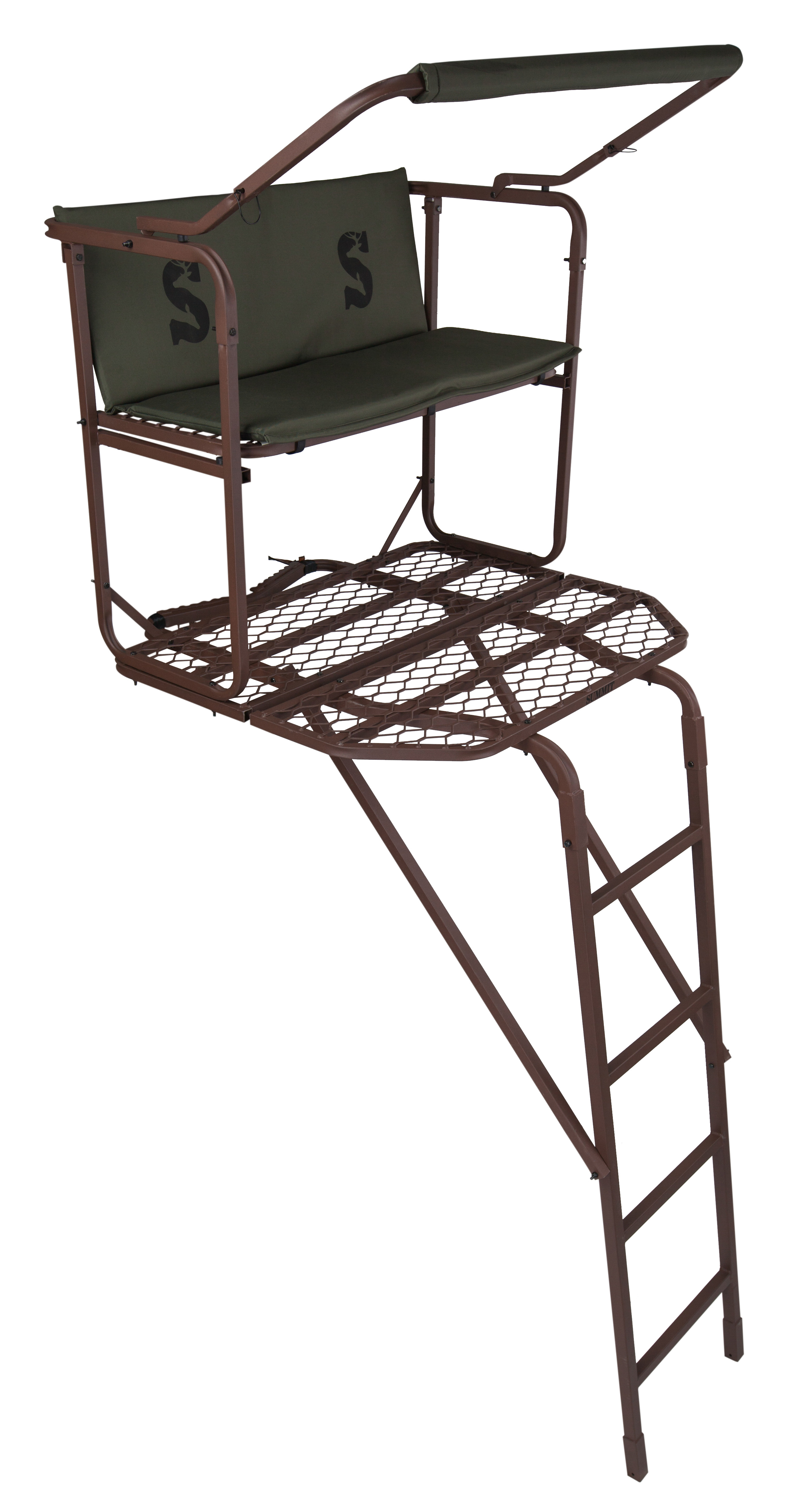 high chair deer stand gym on summit dual pro treestand big game ladderstand new 3 day details
