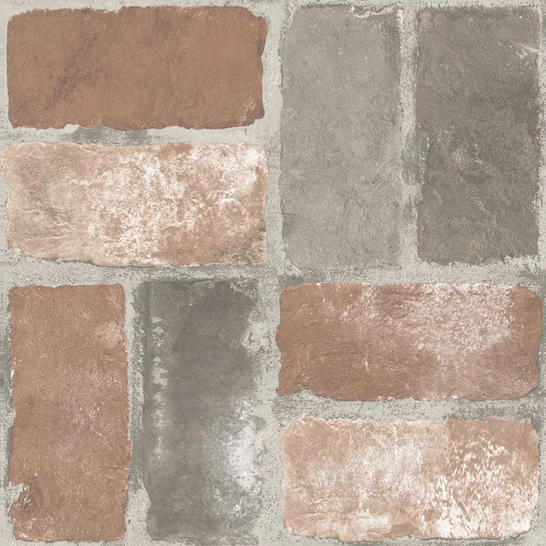 floorpops harvard brick red 12 in x 12 in peel and stick virgin vinyl floor tiles 10 pack