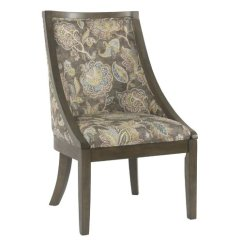 Floral Upholstered Chair Spider Man August Grove Rawley Industrial Dining Walmart Com