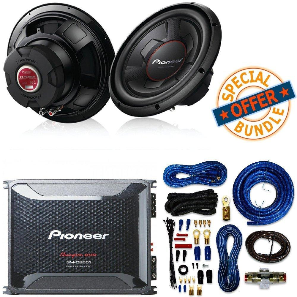 hight resolution of  speakers 1 amplifier 2 12quot subwoofers free amp wire kit 4 channel 2 channel on 4 channel amp