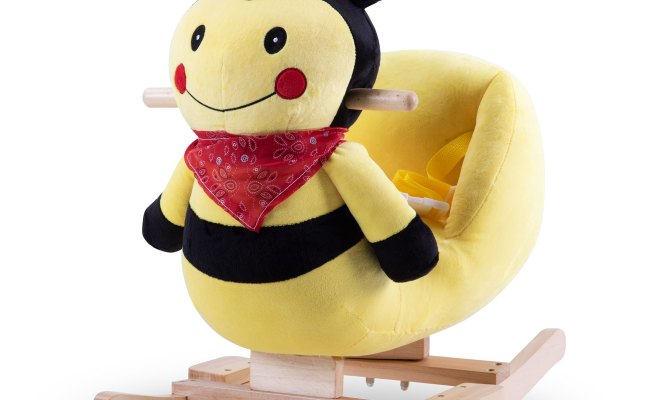 Urhomepro Baby Rocking Horse Bee Ride On Toy For 1 3 Year