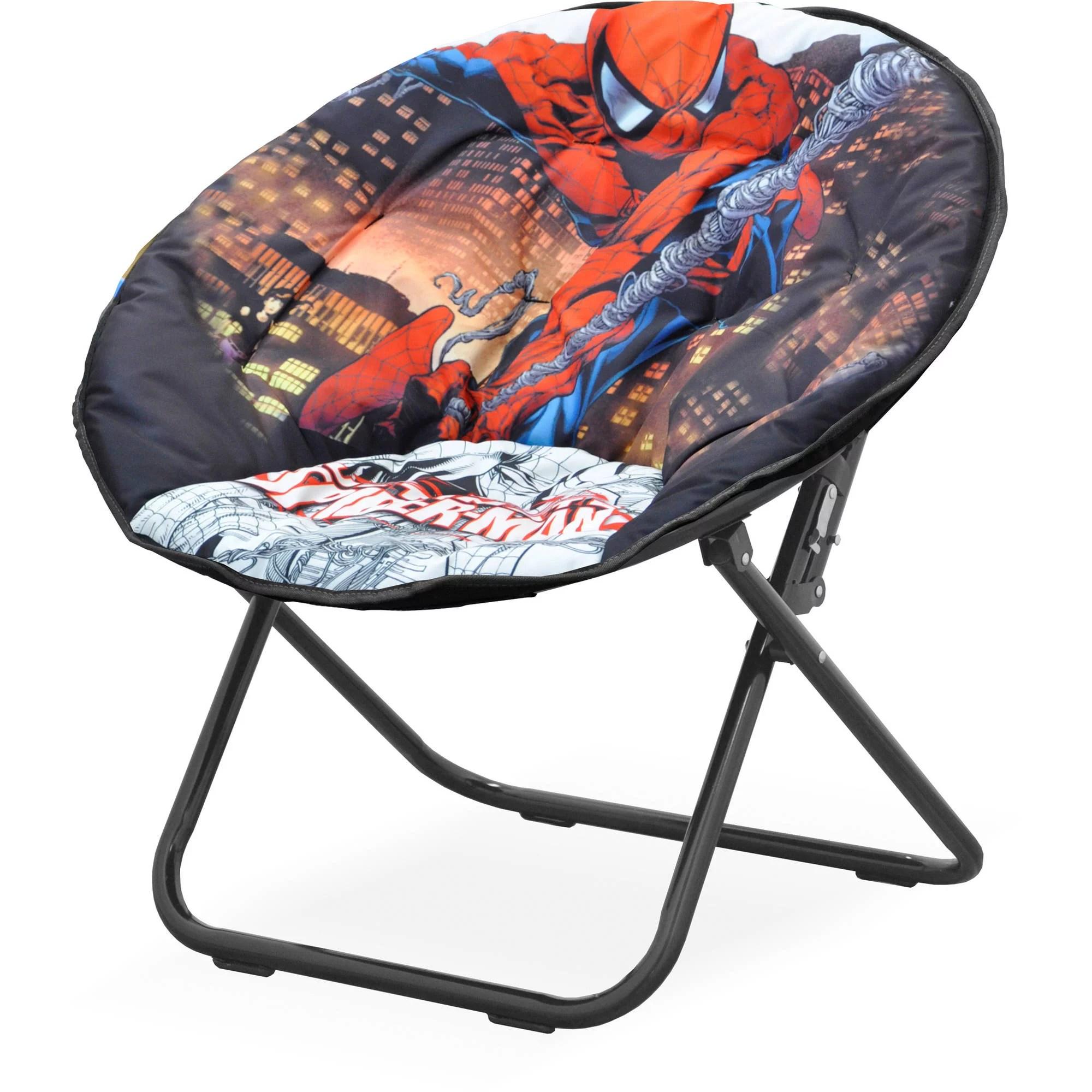 oversized saucer chair iron dining chairs marvel spider-man soft - walmart.com