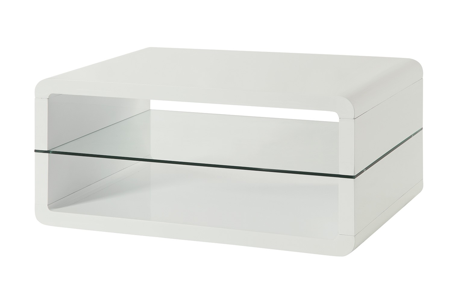 coffee table with 2 shelf white and clear walmart com