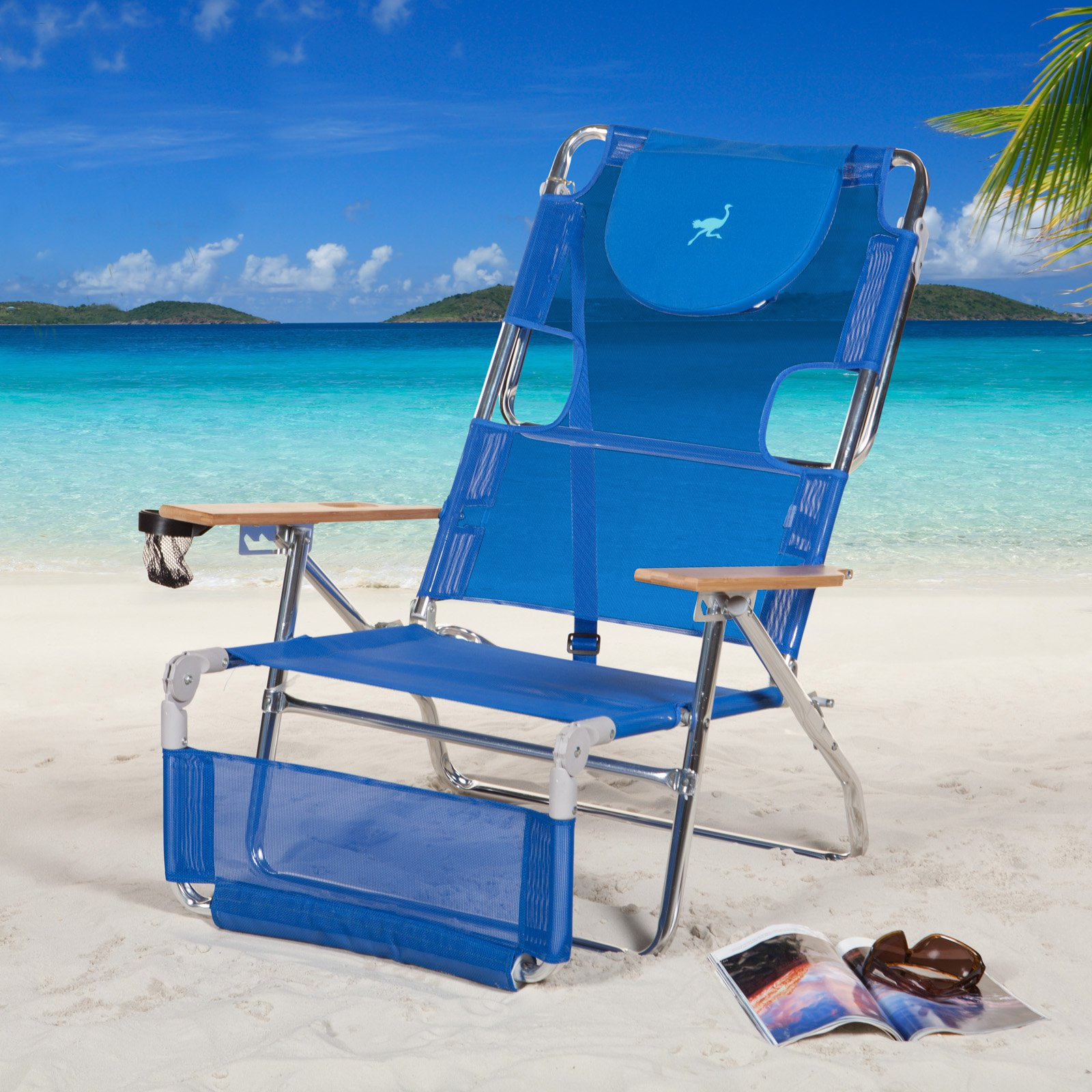 beach chairs with footrest banquet chair covers hs code ostrich 3 in 1 walmart com