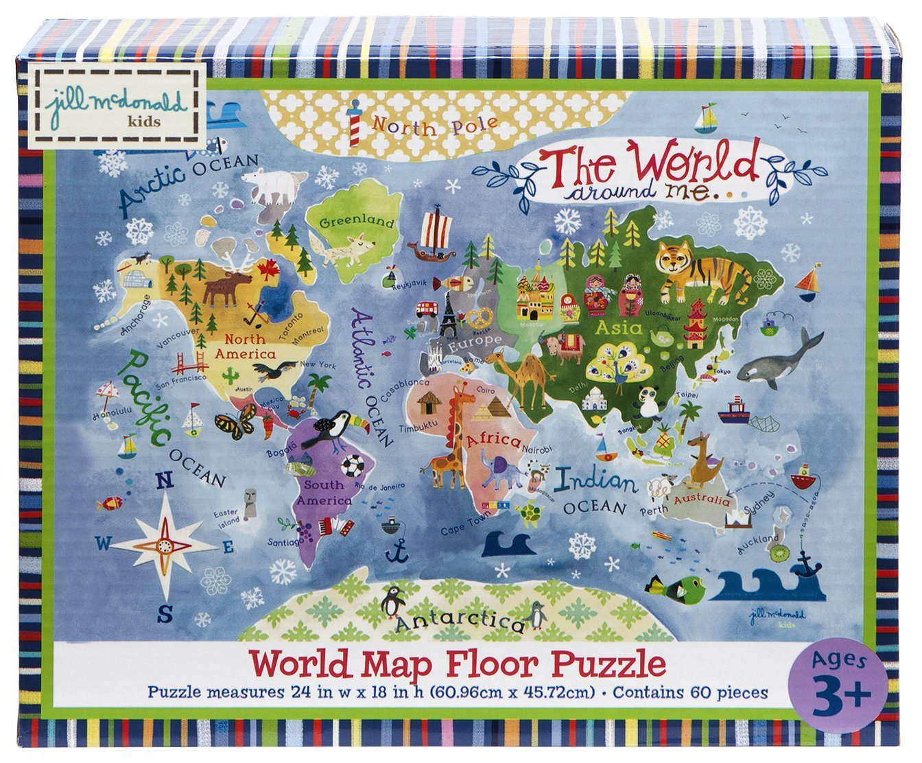 Gibby Amp Libby The World Around Me Map Puzzle By Kids Will