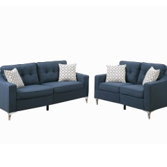 Poundex Bobkona Arcadia Sofa And Loveseat Set 2 Seater Bed Dimensions Masacci Linen Like Polyfabric Piece