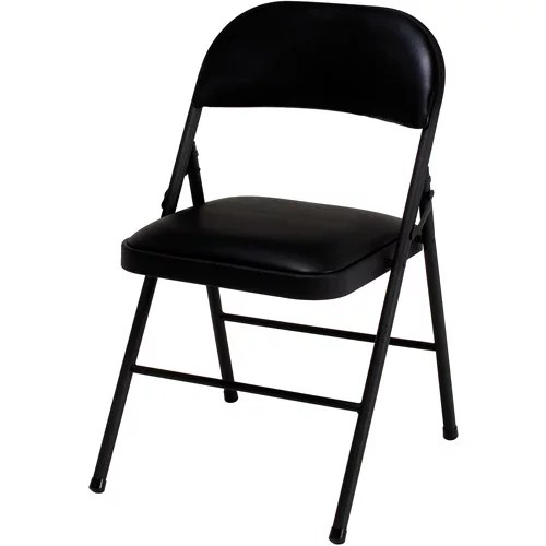 folding chairs walmart stackable resin green flash furniture hercules series black vinyl metal chair with carrying handle com