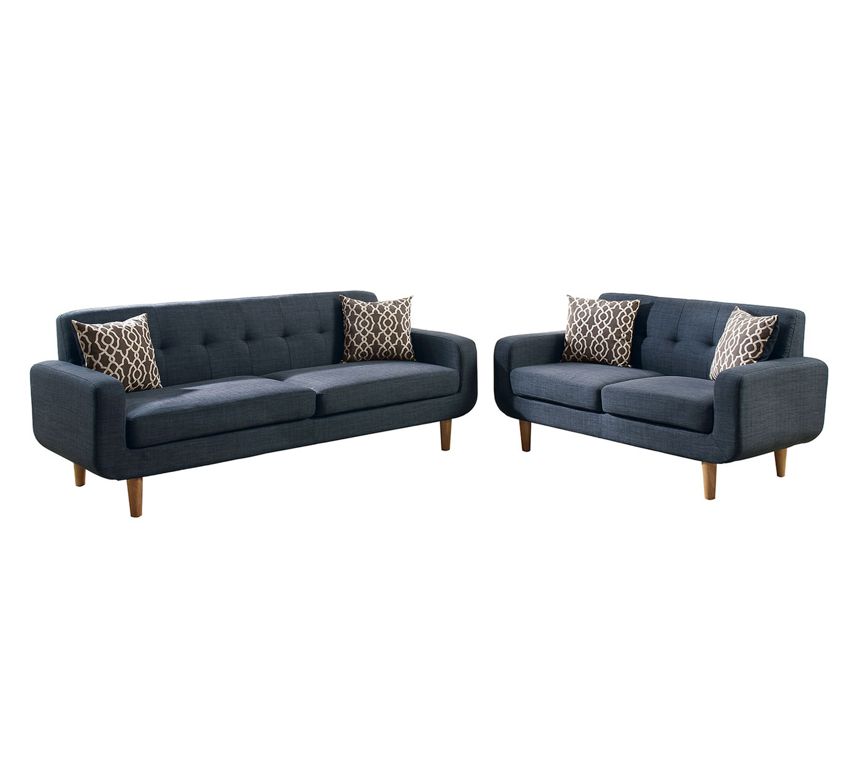 poundex bobkona arcadia sofa and loveseat set best office bed saul dorris fabric 2 piece