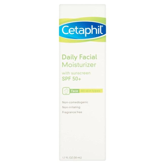 Cetaphil Daily Face Moisturizer, 1.7fl oz, SPF 50+ (All Skin Types)