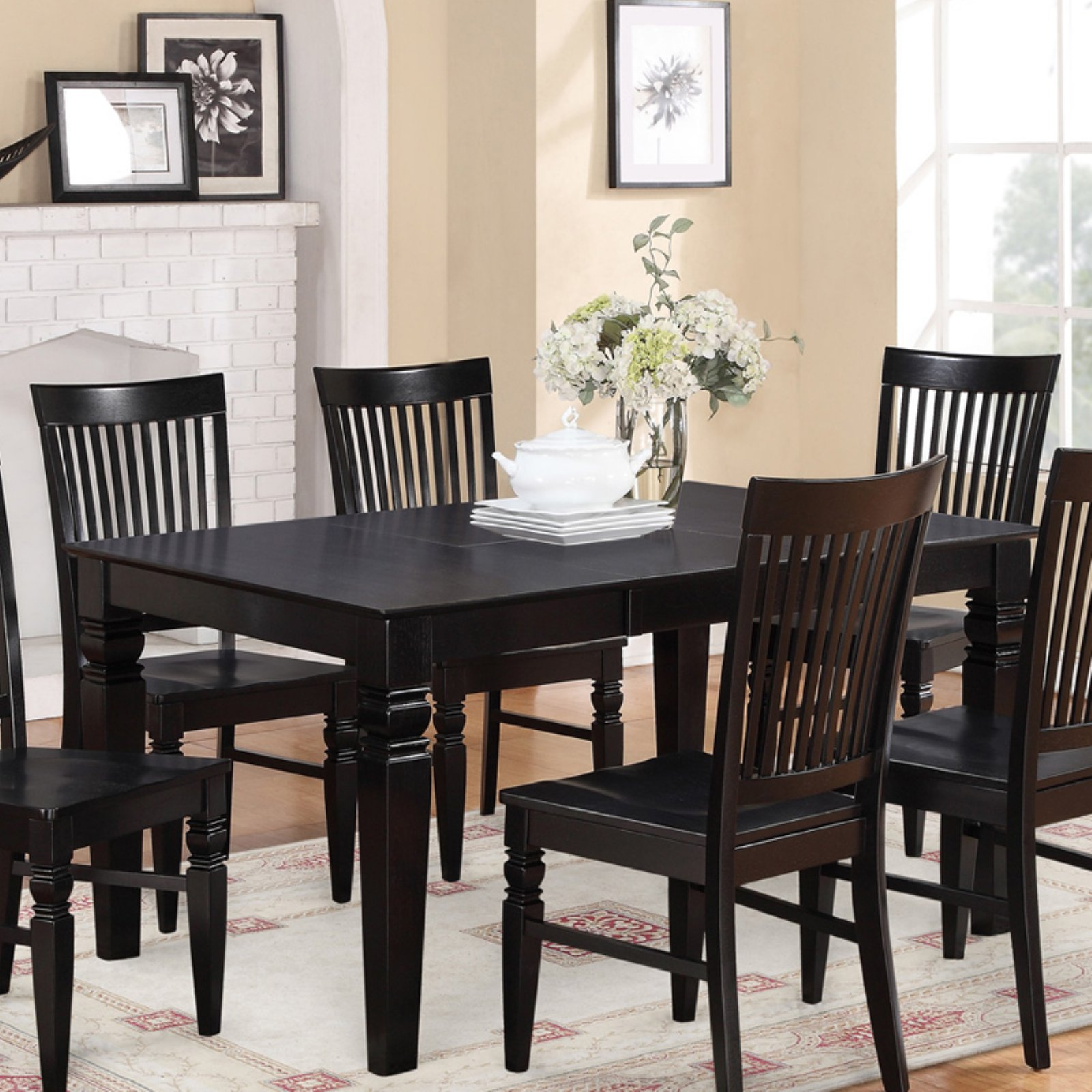 60 inch kitchen table retro east west furniture weston 42 rectangular dining with butterfly leaf