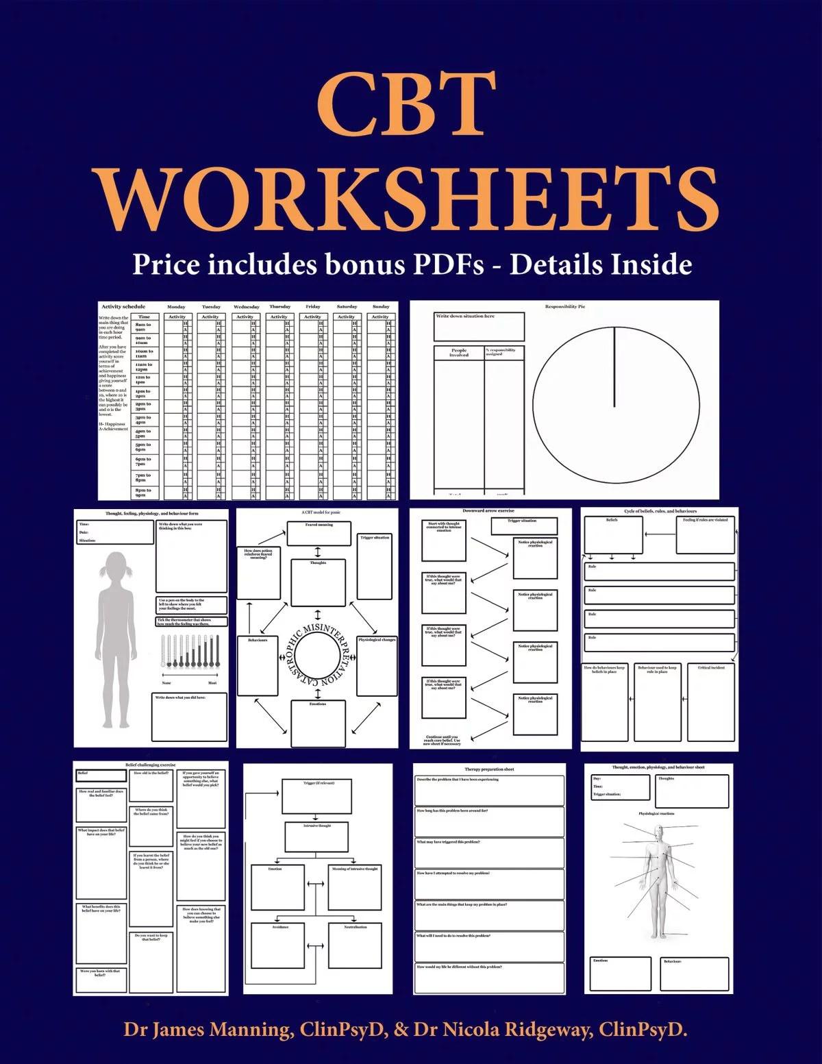 Cbt Worksheets Cbt Worksheets For Cbt Therapists In