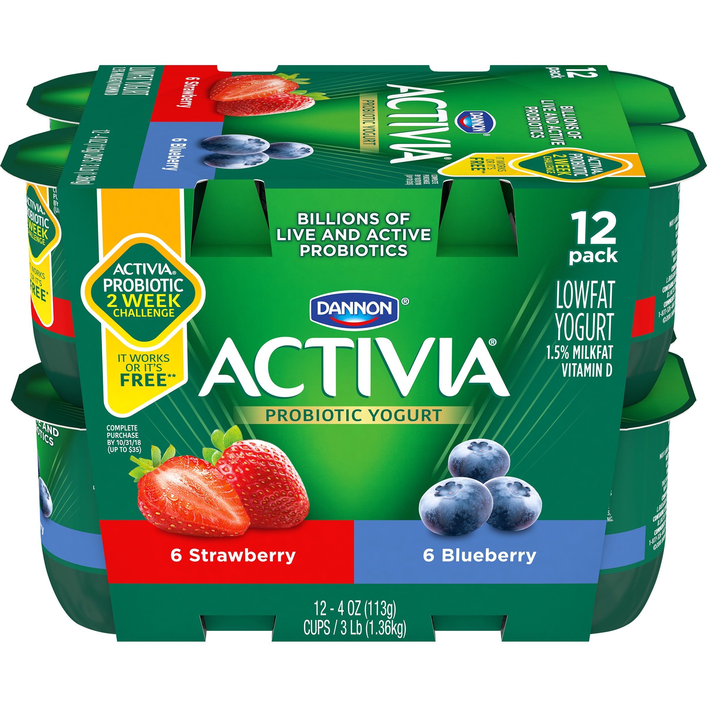 Activia Lowfat Yogurt Nutrition Information | Besto Blog