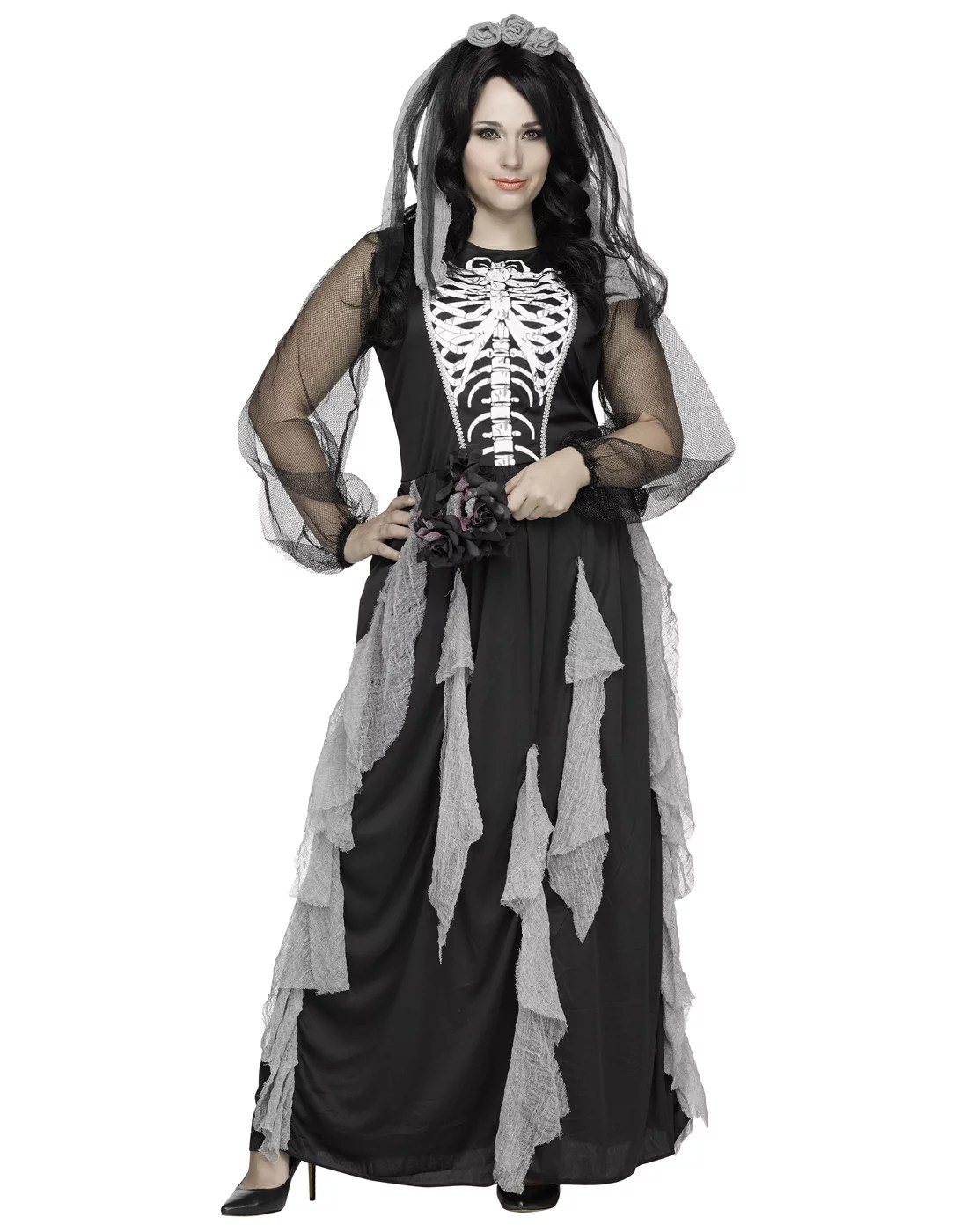Every year, there's that one superhero film, hit tv show or viral meme that inspires everyone's costume ideas when halloween rolls around. Skeleton Bride Womens Plus Size Corpse Bride Halloween Costume Gown 2x Walmart Com Walmart Com