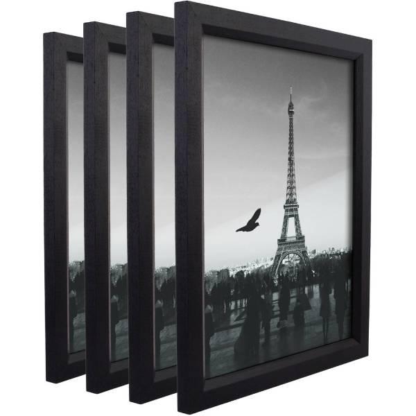 Craig Frames Simple Black Hardwood Frame Set Of 4