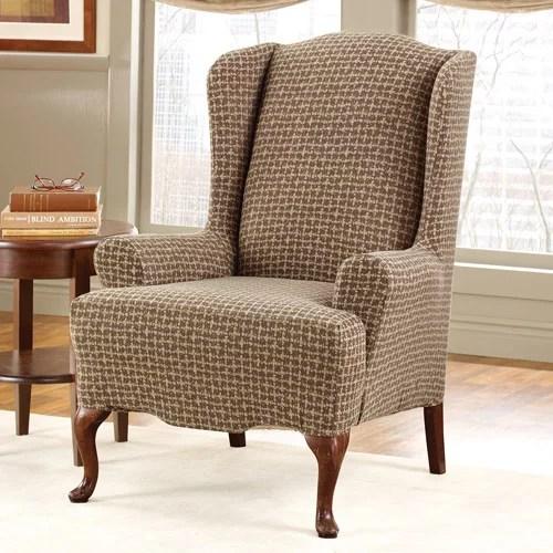 Surefit Stretch Baxter Wing Chair Slipcover  Walmartcom