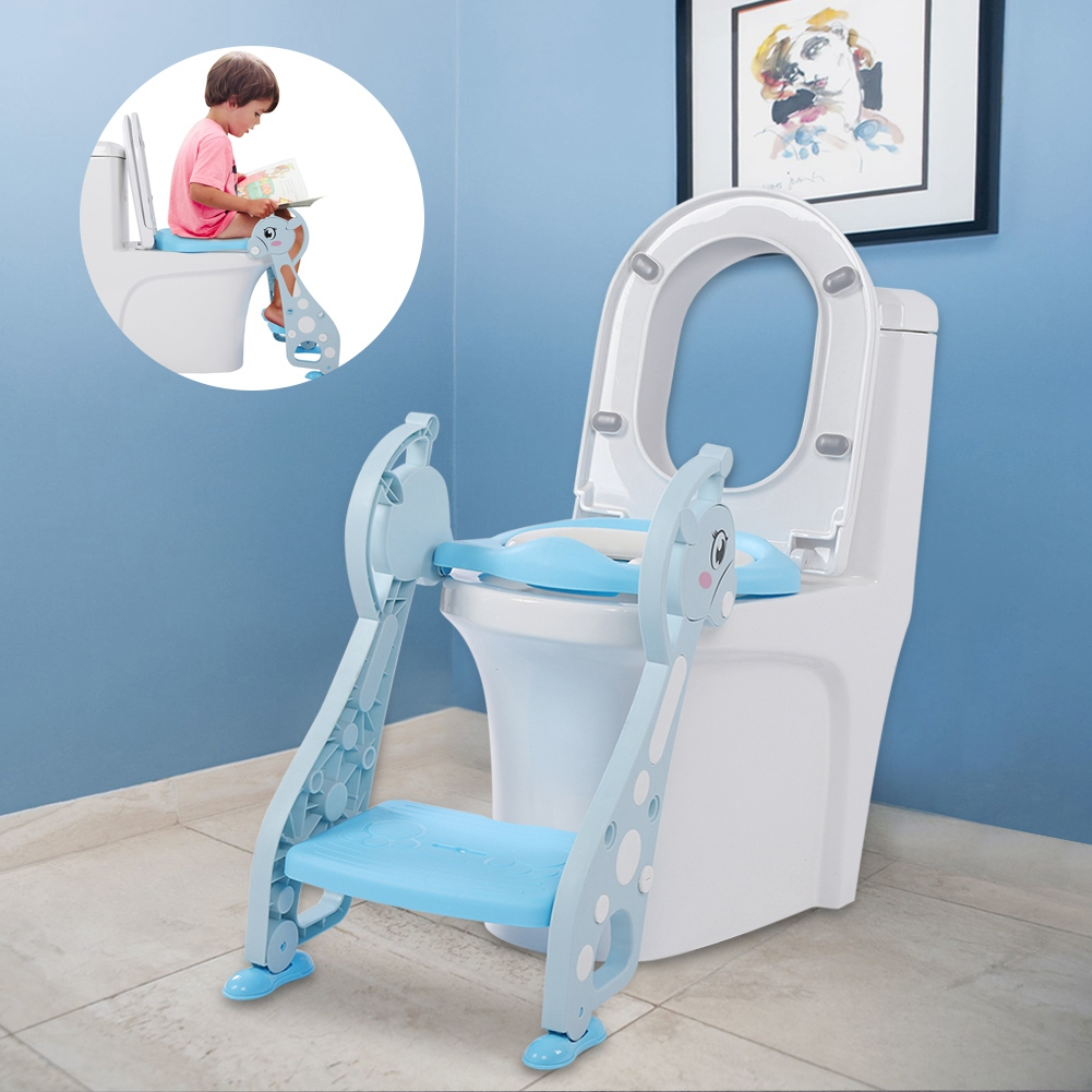 potty chair with ladder cr plastics adirondack chairs hurrise cute deer armrest for baby boy kids toddler training soft toilet seat