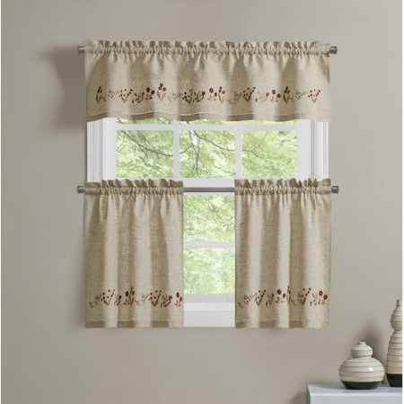 Richloom Home Fashions Lilly Of The Valley 60 Window Tier Curtain