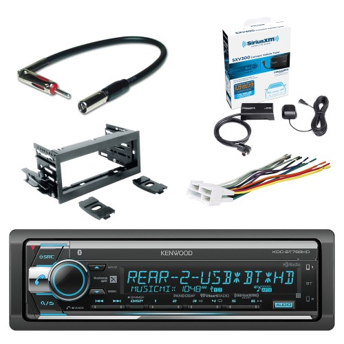 small resolution of kenwood single din cd am fm car audio receiver with bluetooth siriusxm satellite radio vehicle tuner kit scosche dash kit scosche gm micro delco antenna