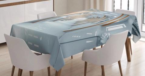 futuristic sci fi dining room fantasy kitchen table spaceship