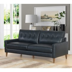 Abbyson Living Westbury Leather Sectional Sofa Black Selber Bauen Abigail Mid Century Top Grain