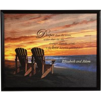 Personalized Framed Beach Chair Canvas - Walmart.com