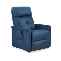 Lift Chairs Walmart Office Chair Armless Toronto Power Recline And In Blue Microfiber