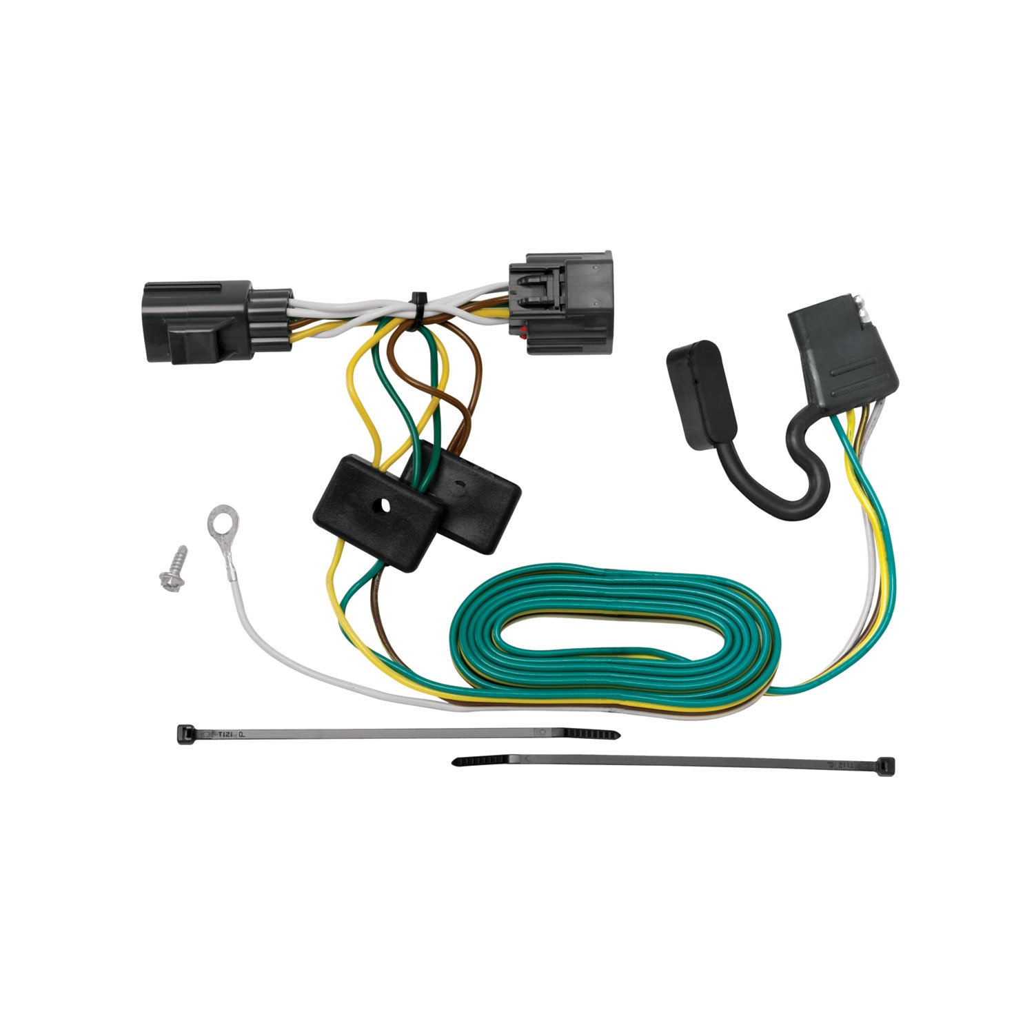 hight resolution of tekonsha 118416 trailer wiring connector t one 4 way flat oem wiring harness connectors
