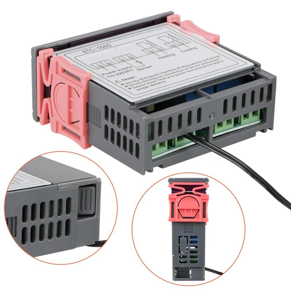 medium resolution of digital stc 1000 all purpose temperature controller thermostat with sensor 220v walmart com